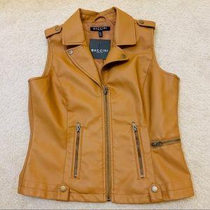 NWT Baccini Faux Leather Vest